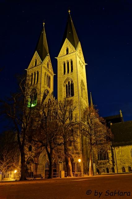 Halberstädter Dom bei Nacht